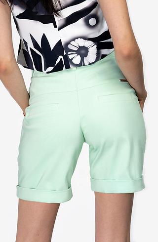 Къс панталон с висока талия в цвят мента