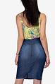 Дънкова пола с диагонални ципове