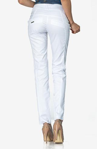 Бял панталон с нервюри