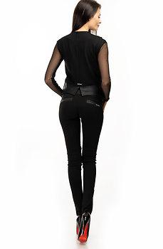 Комплект от панталон и елече с черно-бял акцент