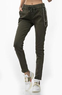 Спортно-елегантен панталон Макси в цвят каки