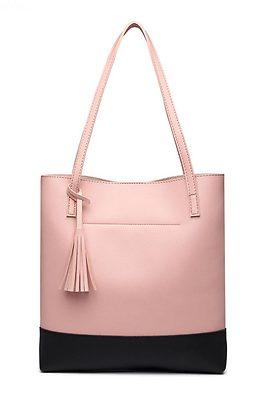 Дамска чанта в нежно розово