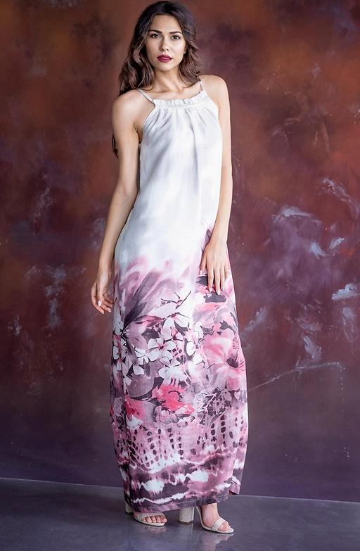 Дълга рокля с презрамки