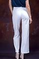 Стилен бял панталон с висока талия
