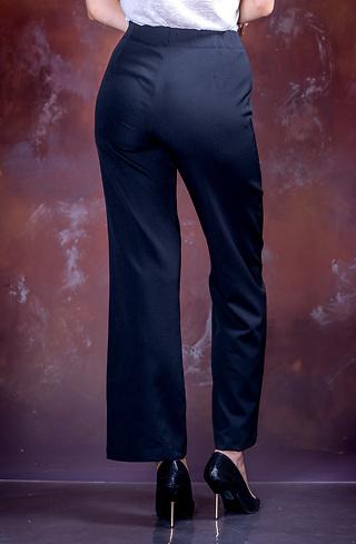 Стилен черен панталон с висока талия