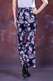 Флорален панталон с висока талия