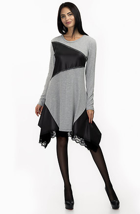 Екстравагантна асиметрична туника от сиво плетиво