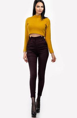 Панталон с висока талия и ръб