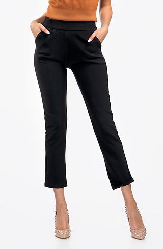 Черен панталон с висока талия