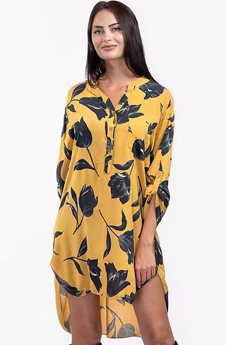 Риза-туника в цвят горчица