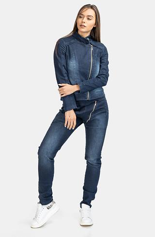 Дънков комплект от яке и панталон