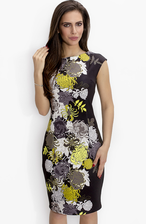 Елегантна рокля от еластичен неопрен