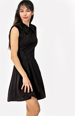 Разкроена рокля без ръкав