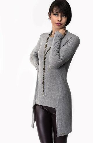 Туника от фино плетиво в сиво