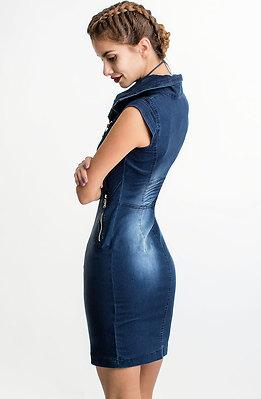 Дънкова рокля с цип