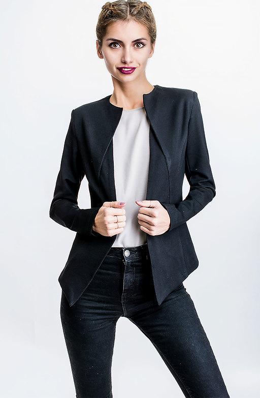 Черно сако