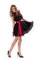 Къса рокля от дантела в черно