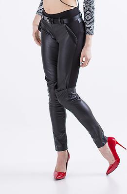 Кожен панталон тип клин