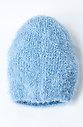 Плетена шапка в светло синьо