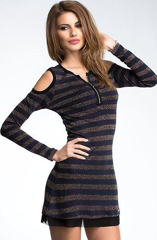 Туника тип рокля от плетиво и тюл I
