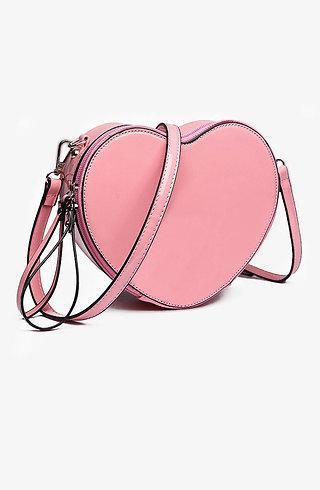 Мини чанта - розово сърце