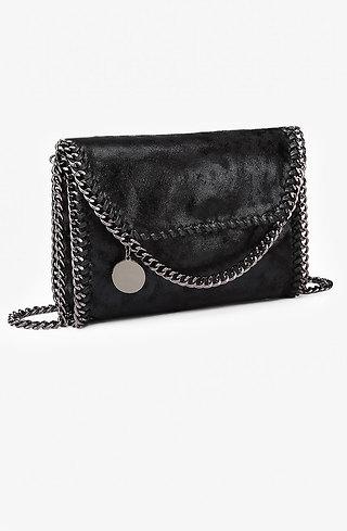 Коктейлна мини чанта в черно