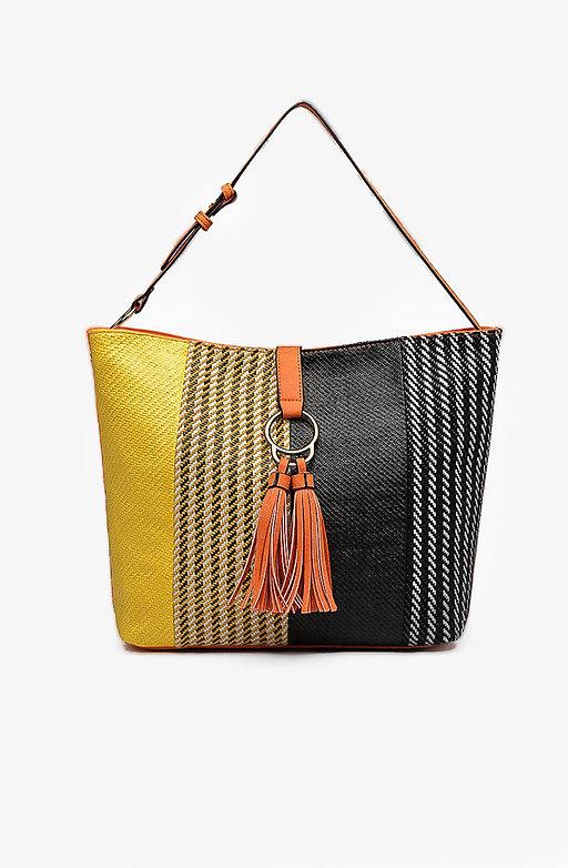 Дамска чанта с многоцветен панел II