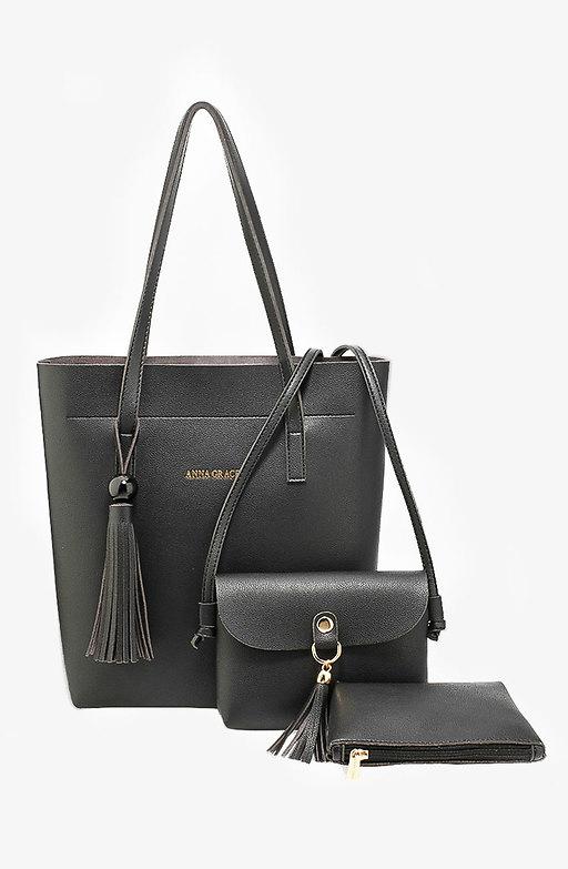 Дамска чанта Трио в черно