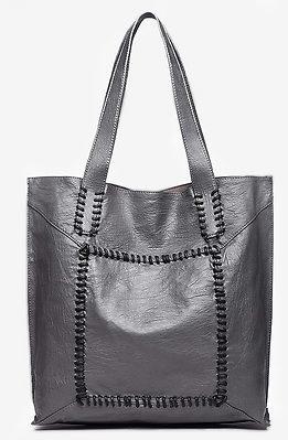 Дамска чанта 2 в 1 в сиво