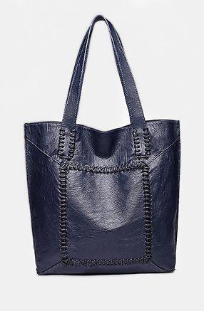 Дамска чанта 2 в 1 в тъмно синьо