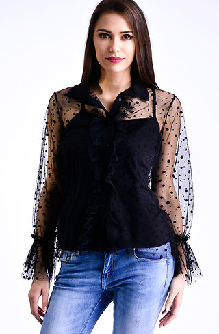 Елегантна риза от тюл