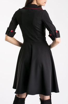 Стилна разкроена рокля с ревери II