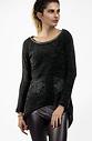 Блуза от плюш с ефектен гръб
