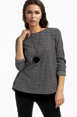 Свободна блузка със сребърна нишка