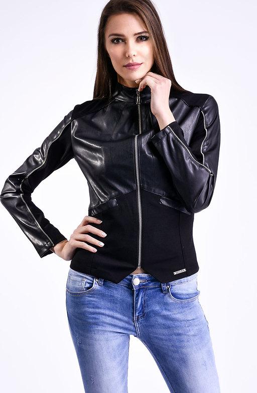 Дамско яке в черно