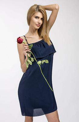 Ефирна рокля с тънки презрамки