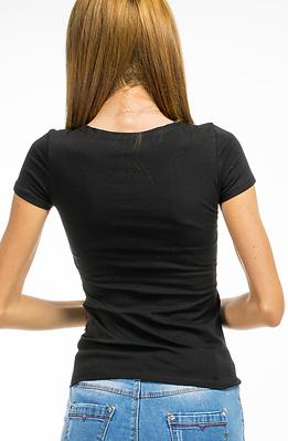 Тениска от памук в черно
