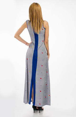 Дълга памучна рокля без ръкав