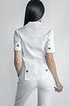 Бяло сако с къс ръкав