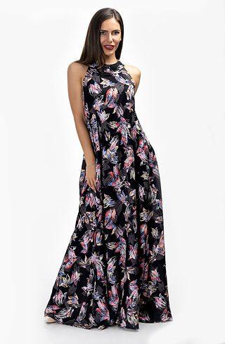 Дълга рокля с кръстосани презрамки
