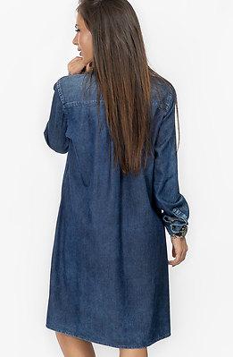 Асиметрична дънкова риза