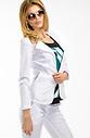 Бяло дамско сако
