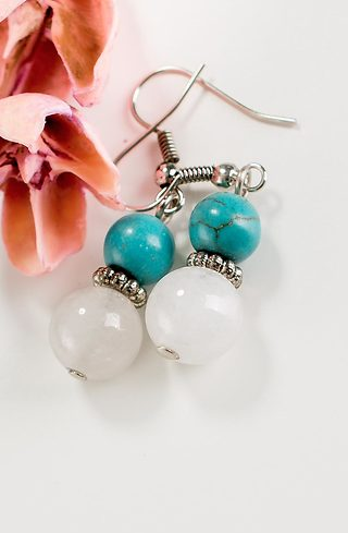 Обеци Turquoise and Agate
