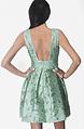Разкроена къса рокля в цвят резеда