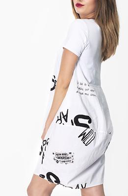 Памучна рокля с принт