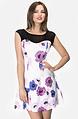 Памучна рокля с флорален принт