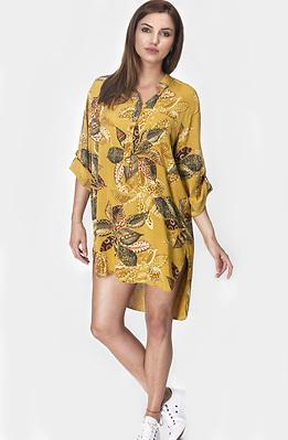 Риза - туника в цвят горчица