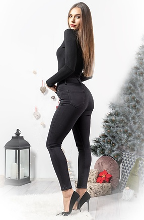 Черни слимфит дънки