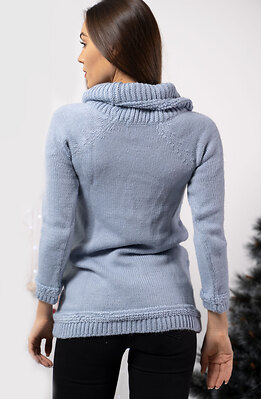 Блуза от плетиво с полу-поло яка