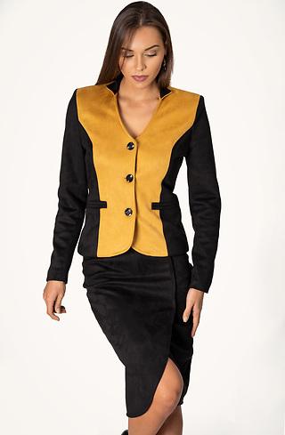 Комплект от сако и пола от велур